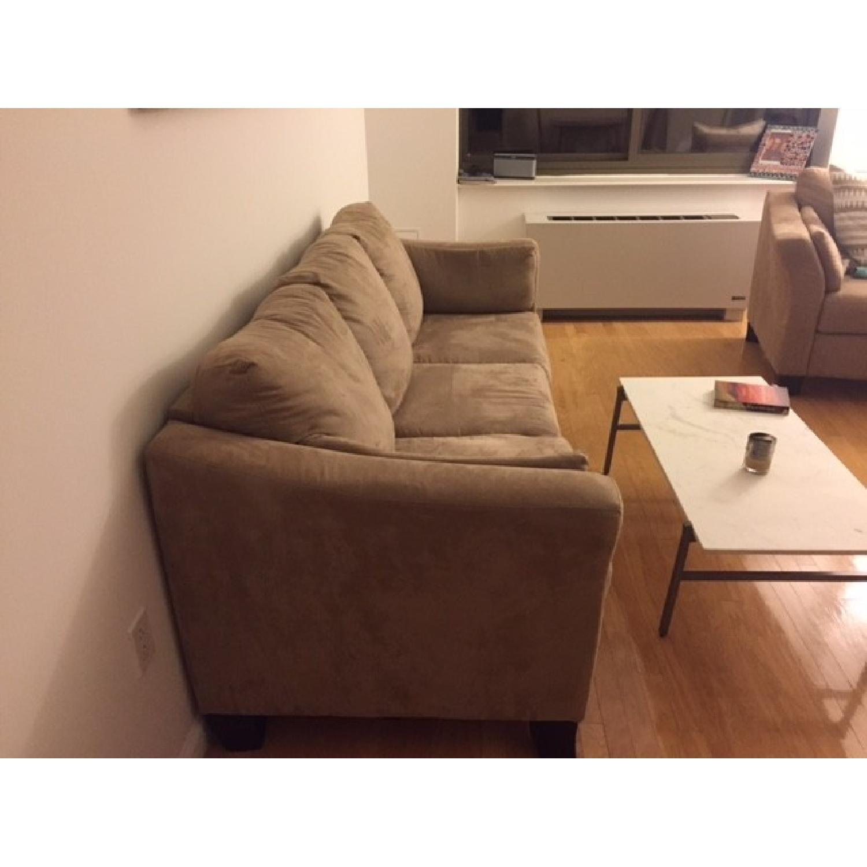 Neutral Suede Sofa - image-2