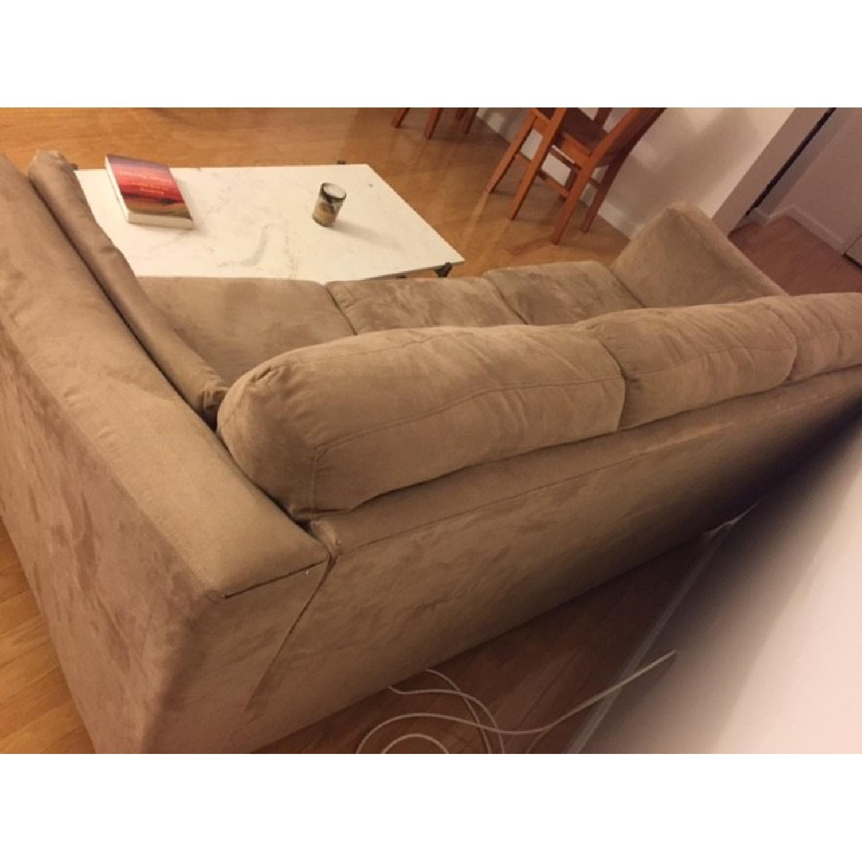 Neutral Suede Sofa - image-4