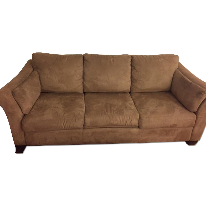 Neutral Suede Sofa - image-0