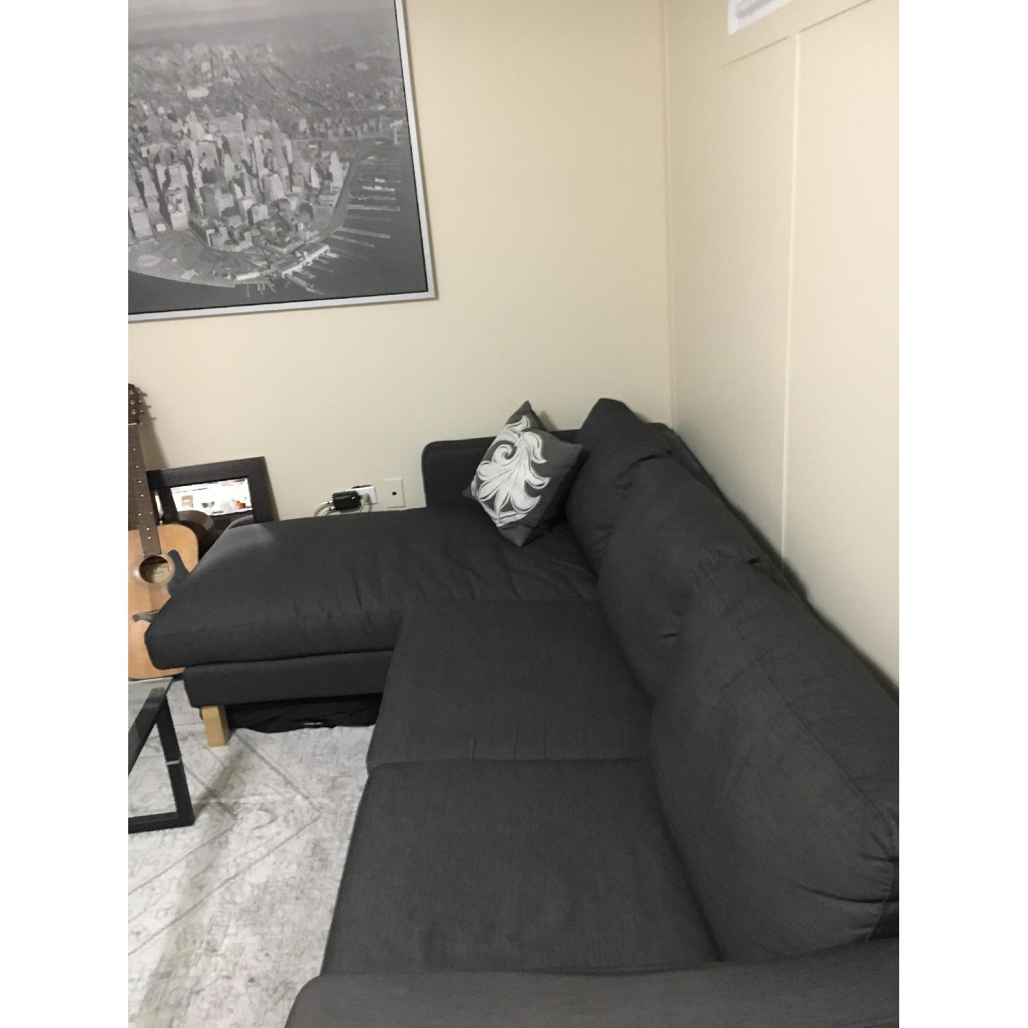 Ikea Charcoal Grey Sectional Couch - image-2