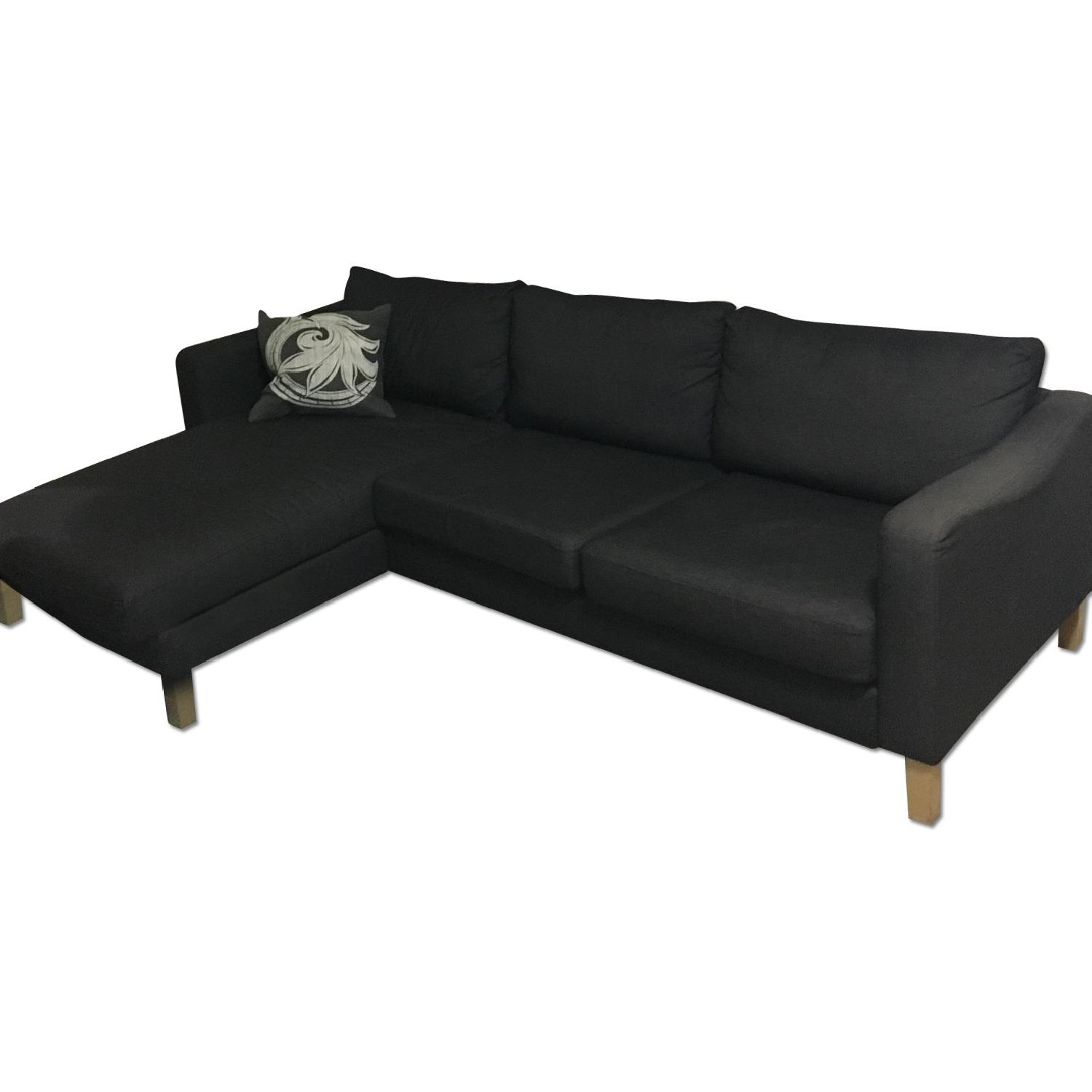 Ikea Charcoal Grey Sectional Couch - image-0