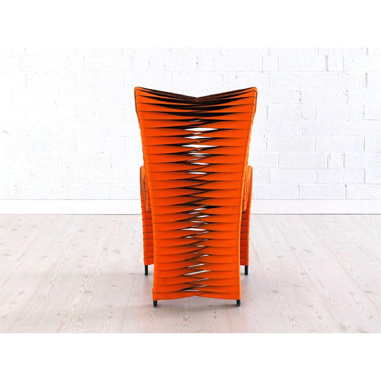 Seat Belt Dining Chair Orange - image-2
