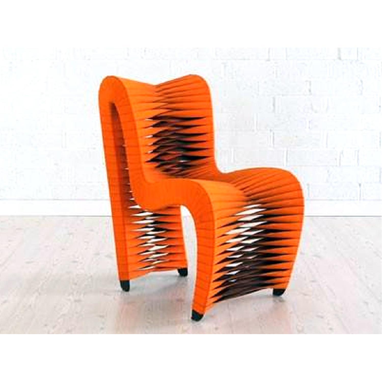 Seat Belt Dining Chair Orange - image-3