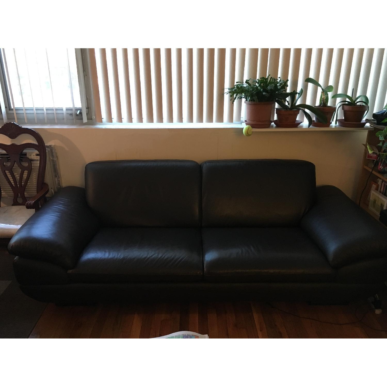 Beverly Hills Prestige Top Grain Full Leather Sofa + Loveseat - image-1