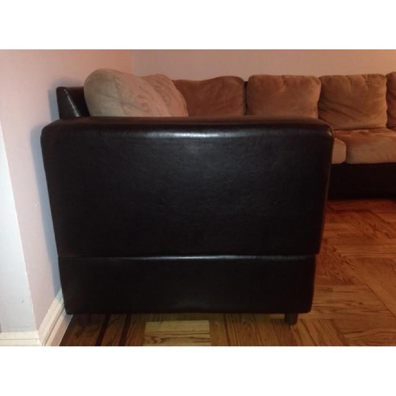 Raymour & Flanigan Leather/Fabric Sectional Sofa - image-6