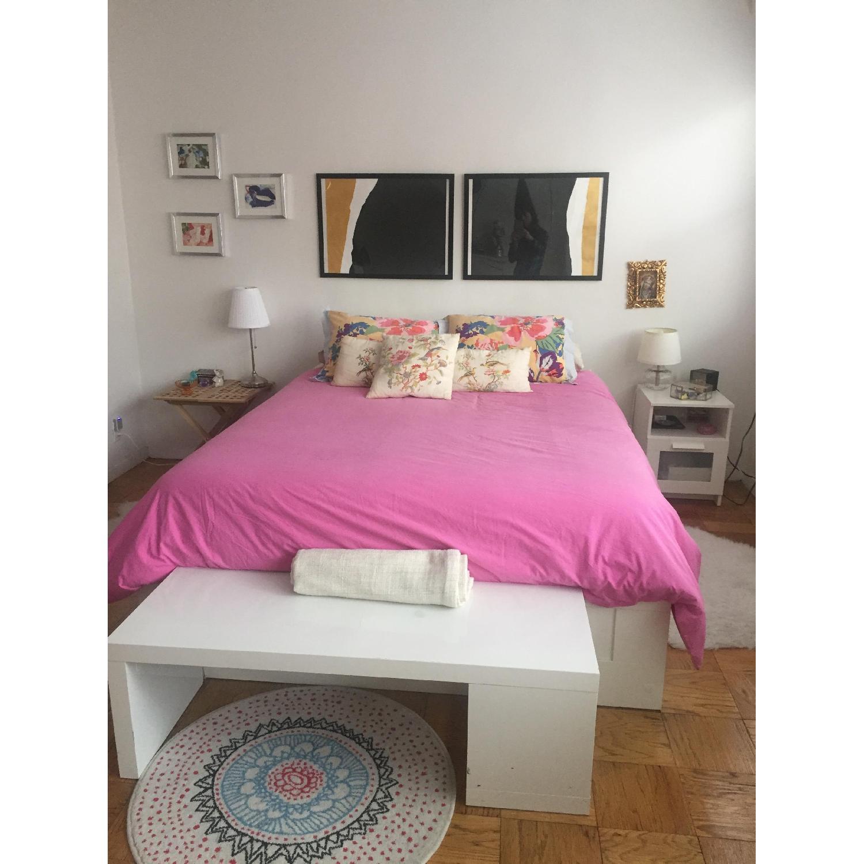 Ikea Brimnes Queen Size Bed Frame w/ Storage - image-1
