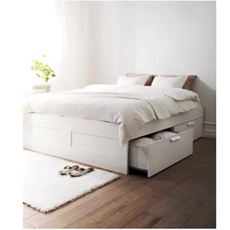 Ikea Brimnes Queen Size Bed Frame w/ Storage - image-2