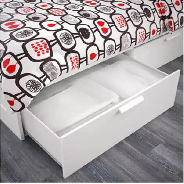 Ikea Brimnes Queen Size Bed Frame w/ Storage - image-3