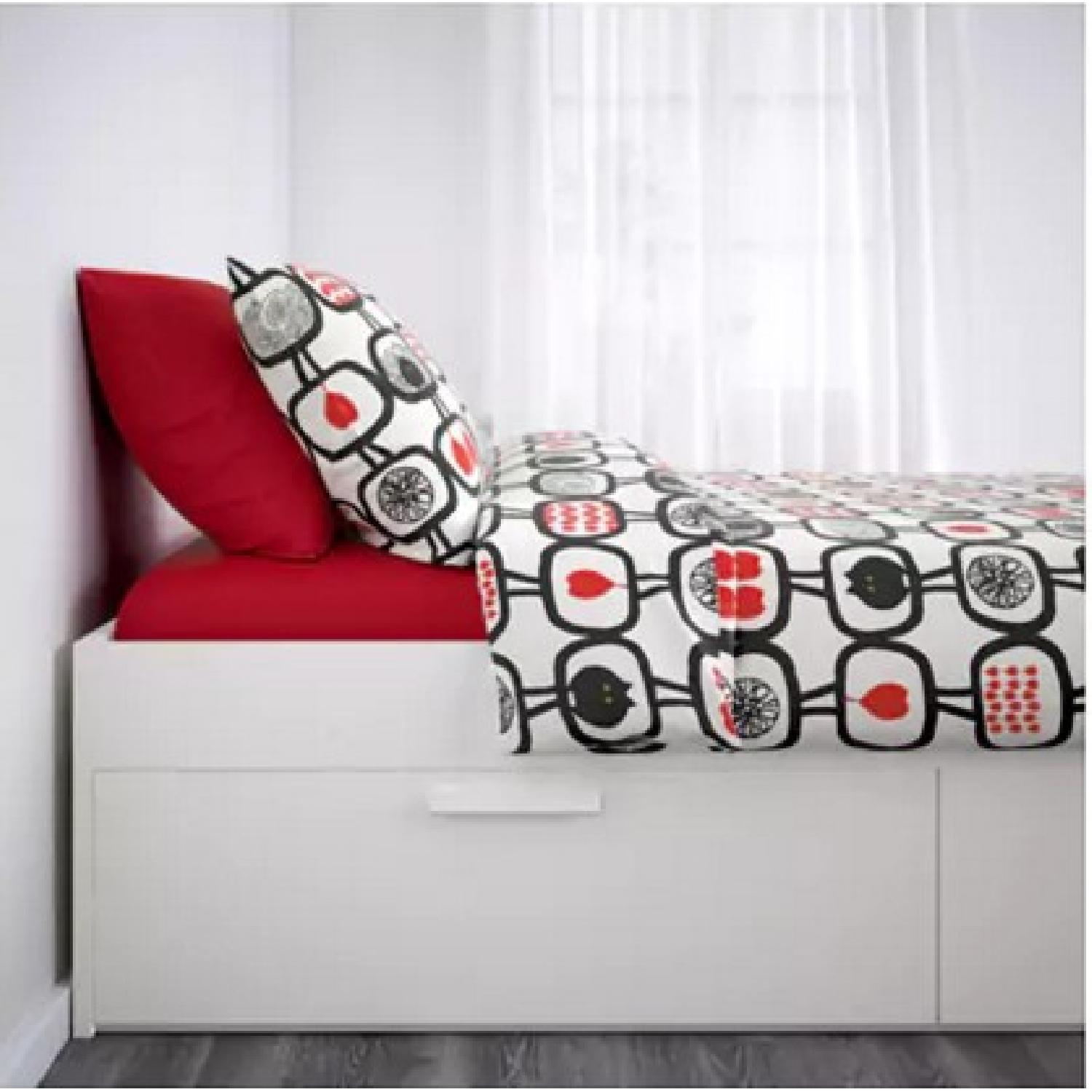 Ikea Brimnes Queen Size Bed Frame w/ Storage - image-4
