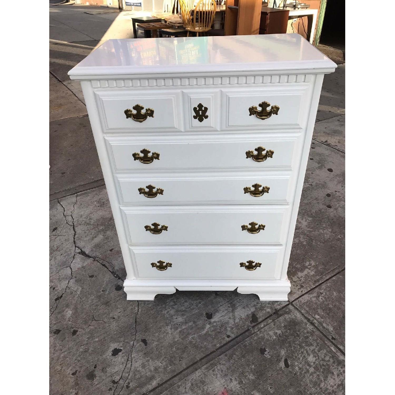 Bassett Vintage White Dresser - image-1