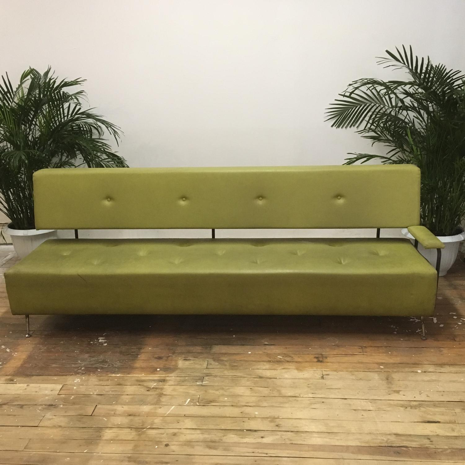 Modern Moss Green Couch - image-1