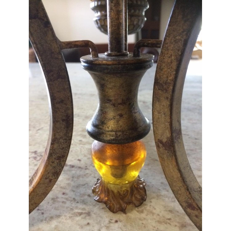 Amber Art Glass Chandelier - image-3