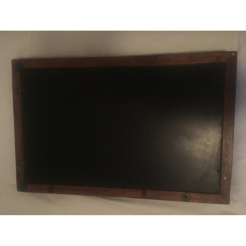 Vintage Carved Wood Lattice Panel w/ Mirror - image-4