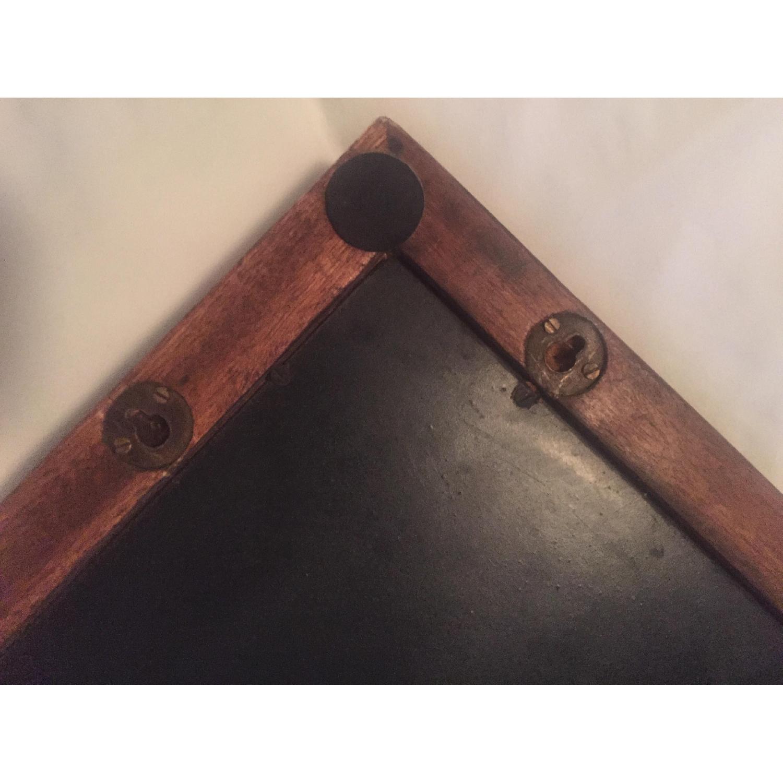 Vintage Carved Wood Lattice Panel w/ Mirror - image-6