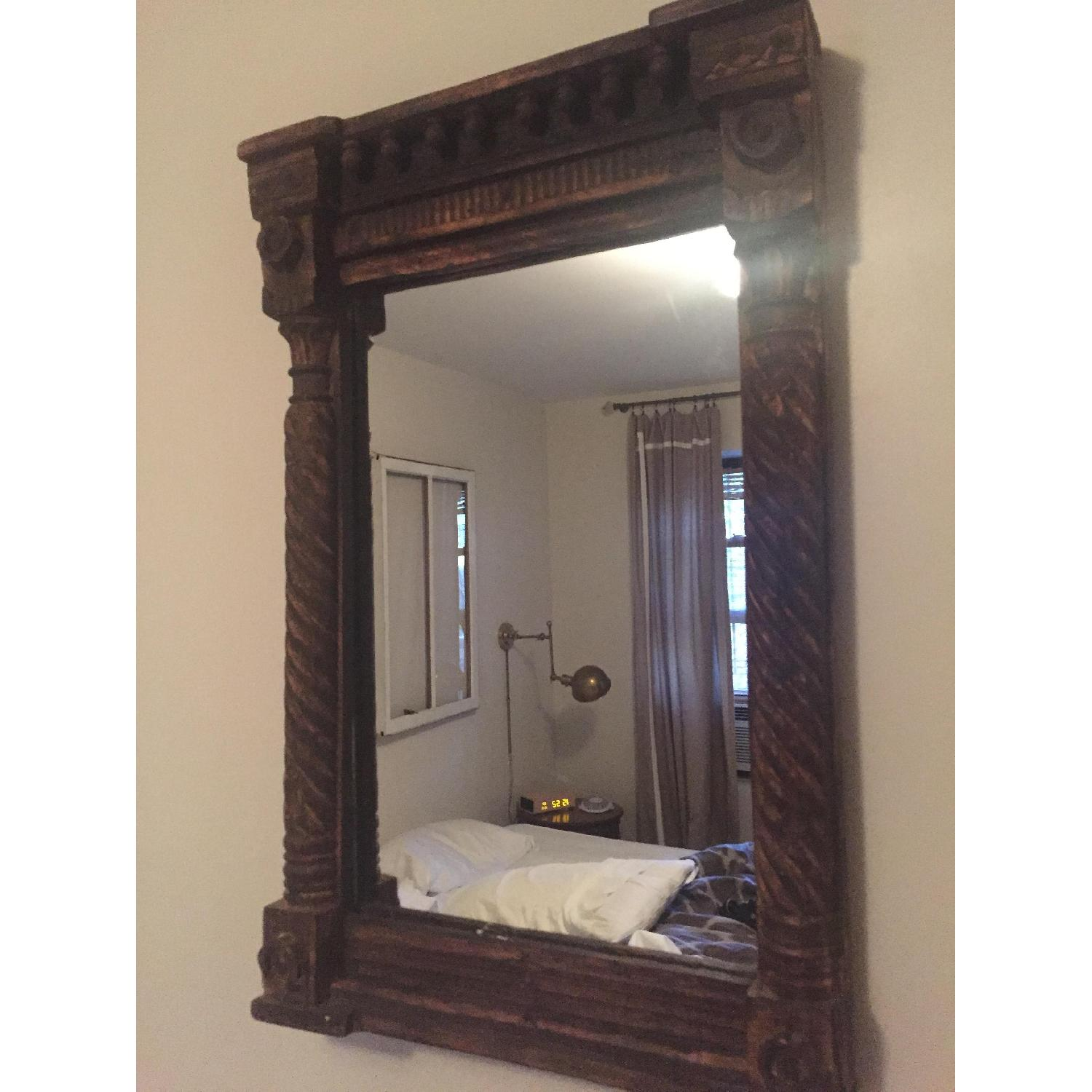 Hand Carved Indian Mirror - image-2