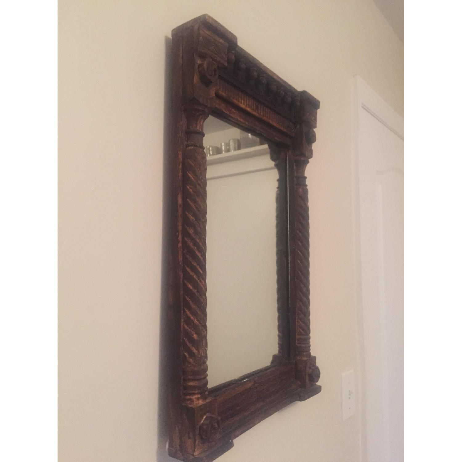 Hand Carved Indian Mirror - image-3