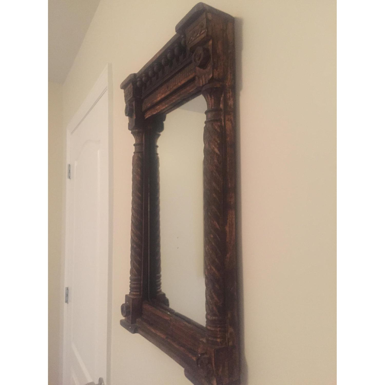 Hand Carved Indian Mirror - image-4