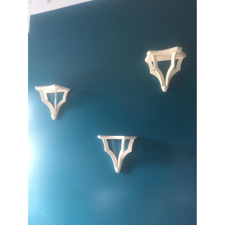 Suzanne Kasler Trio White Bracket Shelves - image-1
