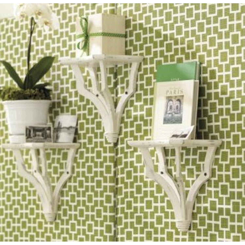 Suzanne Kasler Trio White Bracket Shelves - image-7