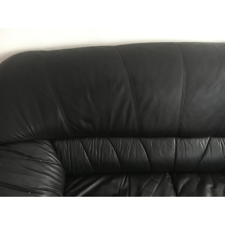 Black Leather Loveseat - image-5