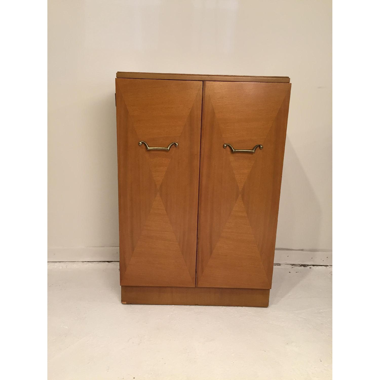Blonde Mahogany Dry Bar/Liquor Cabinet - image-1