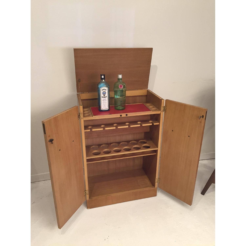 Blonde Mahogany Dry Bar/Liquor Cabinet - image-5