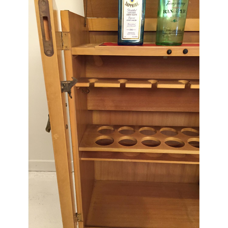 Blonde Mahogany Dry Bar/Liquor Cabinet - image-6