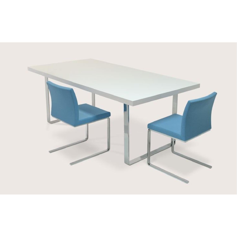 Premium SohoConcept Bosphorus White Gloss Dining Table w/ So - image-3
