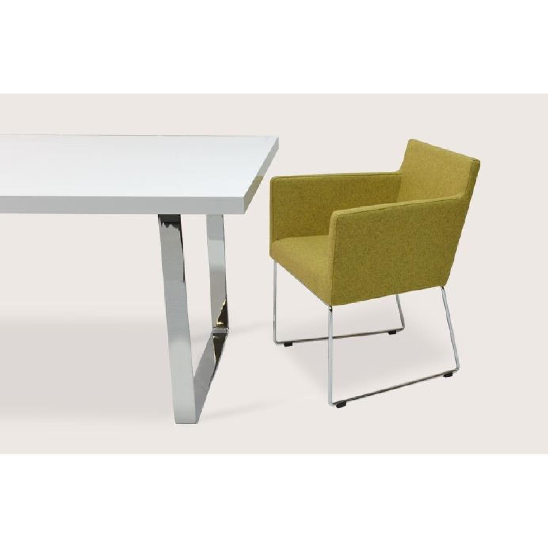 Premium SohoConcept Bosphorus White Gloss Dining Table w/ So - image-4