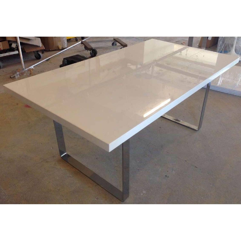 Premium SohoConcept Bosphorus White Gloss Dining Table w/ So - image-5