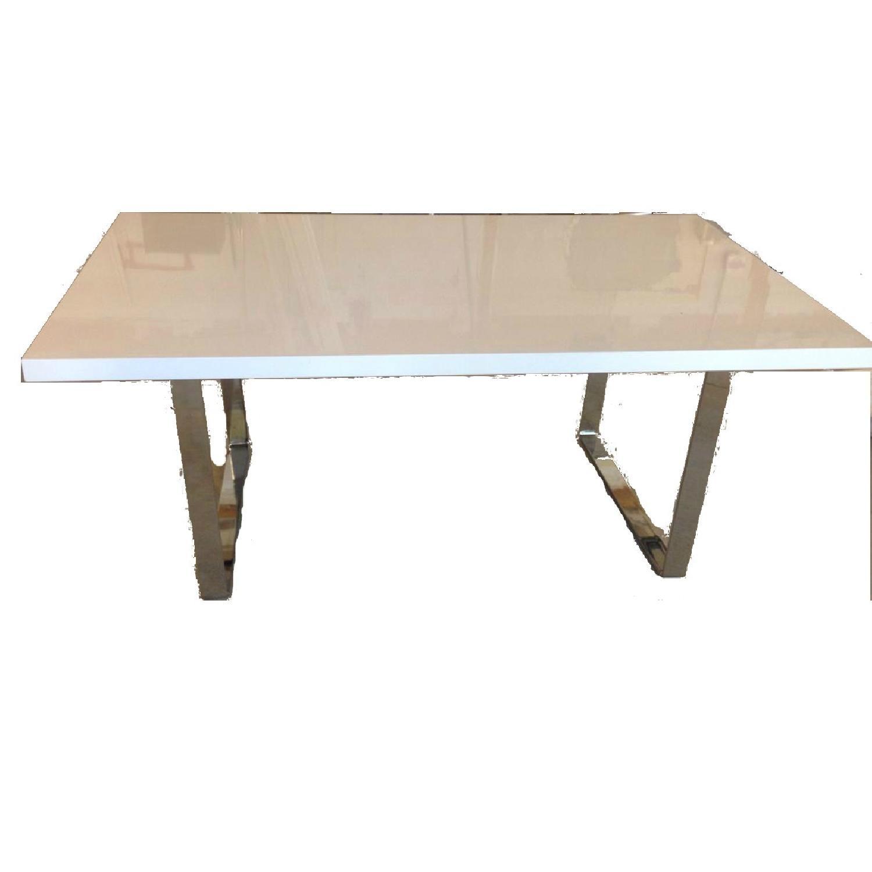 Premium SohoConcept Bosphorus White Gloss Dining Table w/ So - image-0