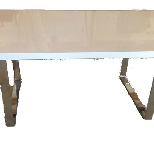 Used Premium SohoConcept Bosphorus White Gloss Dining Table w/ So for sale on AptDeco