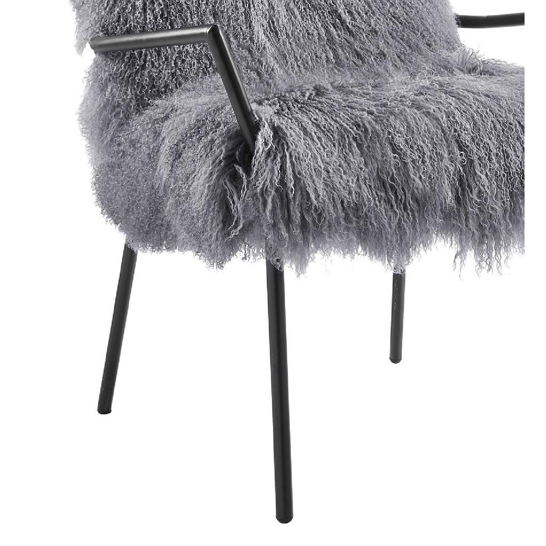 TOV Furniture Lena Grey Sheepskin Accent Chair - image-2