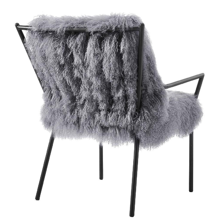 TOV Furniture Lena Grey Sheepskin Accent Chair - image-3