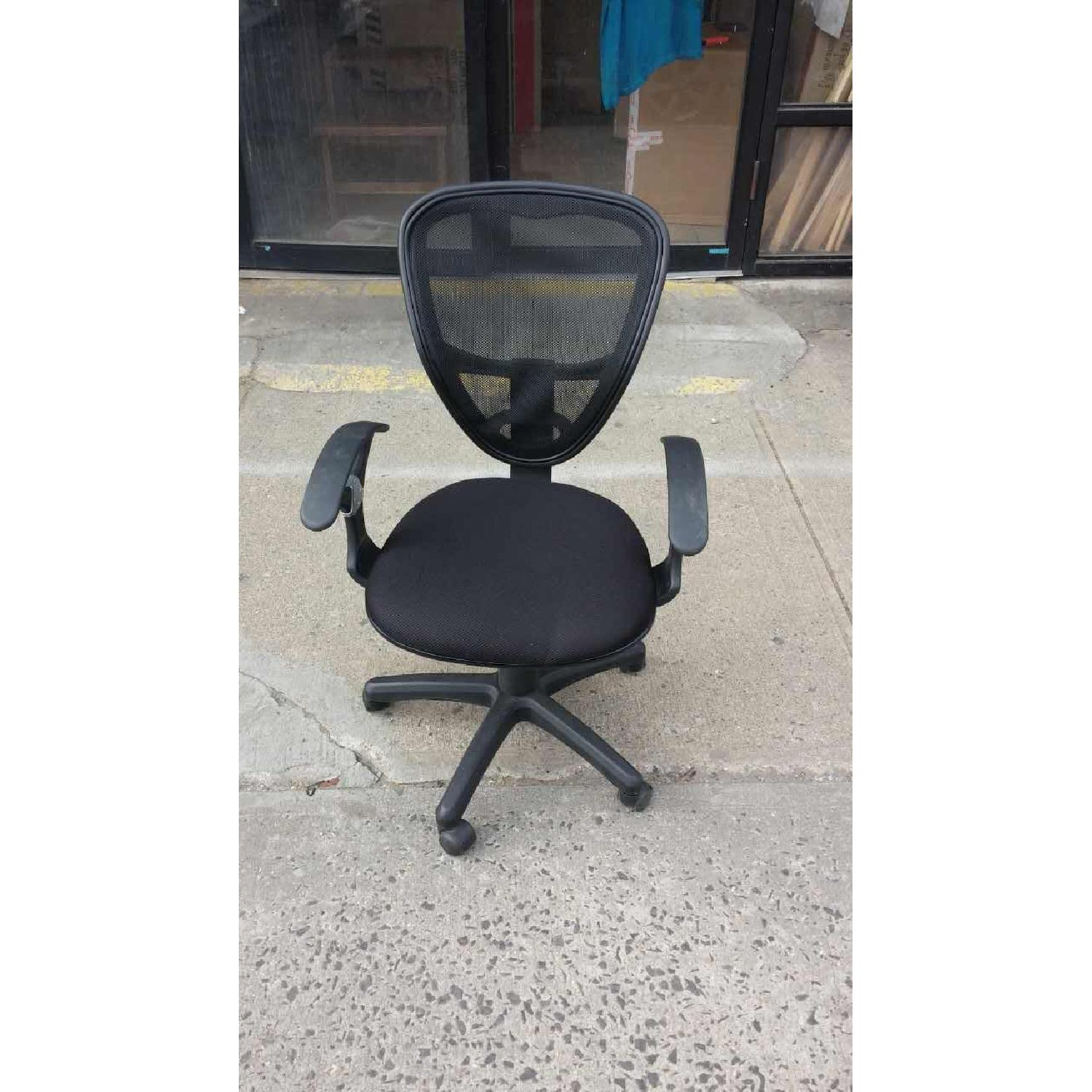Black Office Chair w/ Mesh Back - image-1