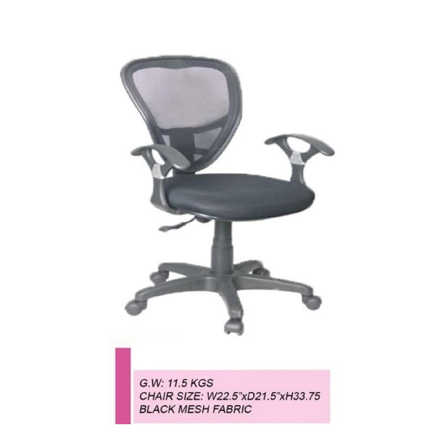 Black Office Chair w/ Mesh Back - image-4