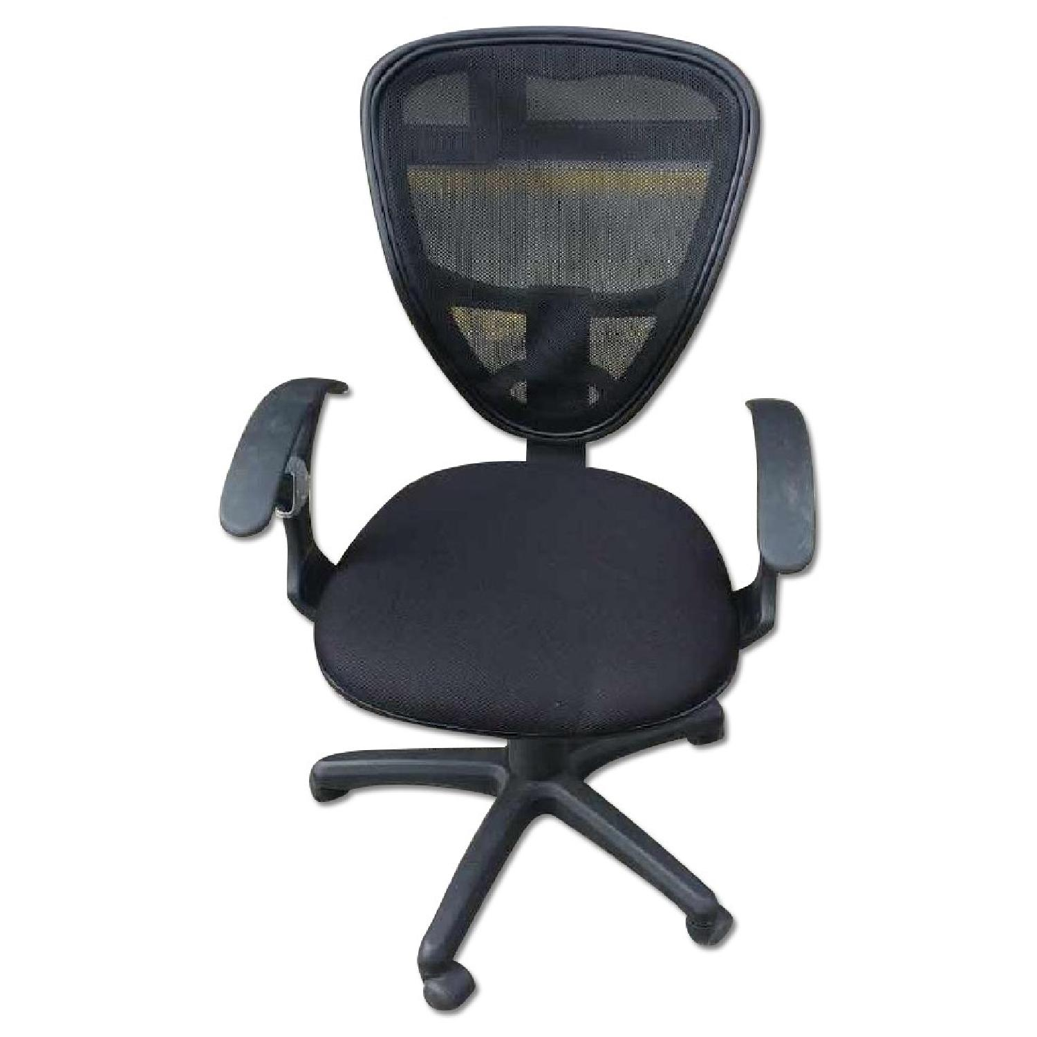 Black Office Chair W Mesh Back
