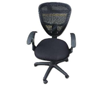 Black Office Chair w/ Mesh Back