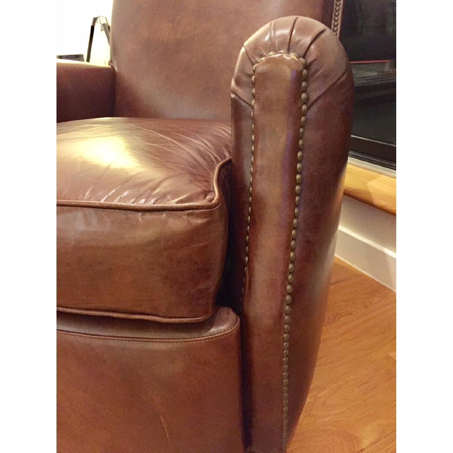 Restoration Hardware Keaton Leather Club Recliner - image-1