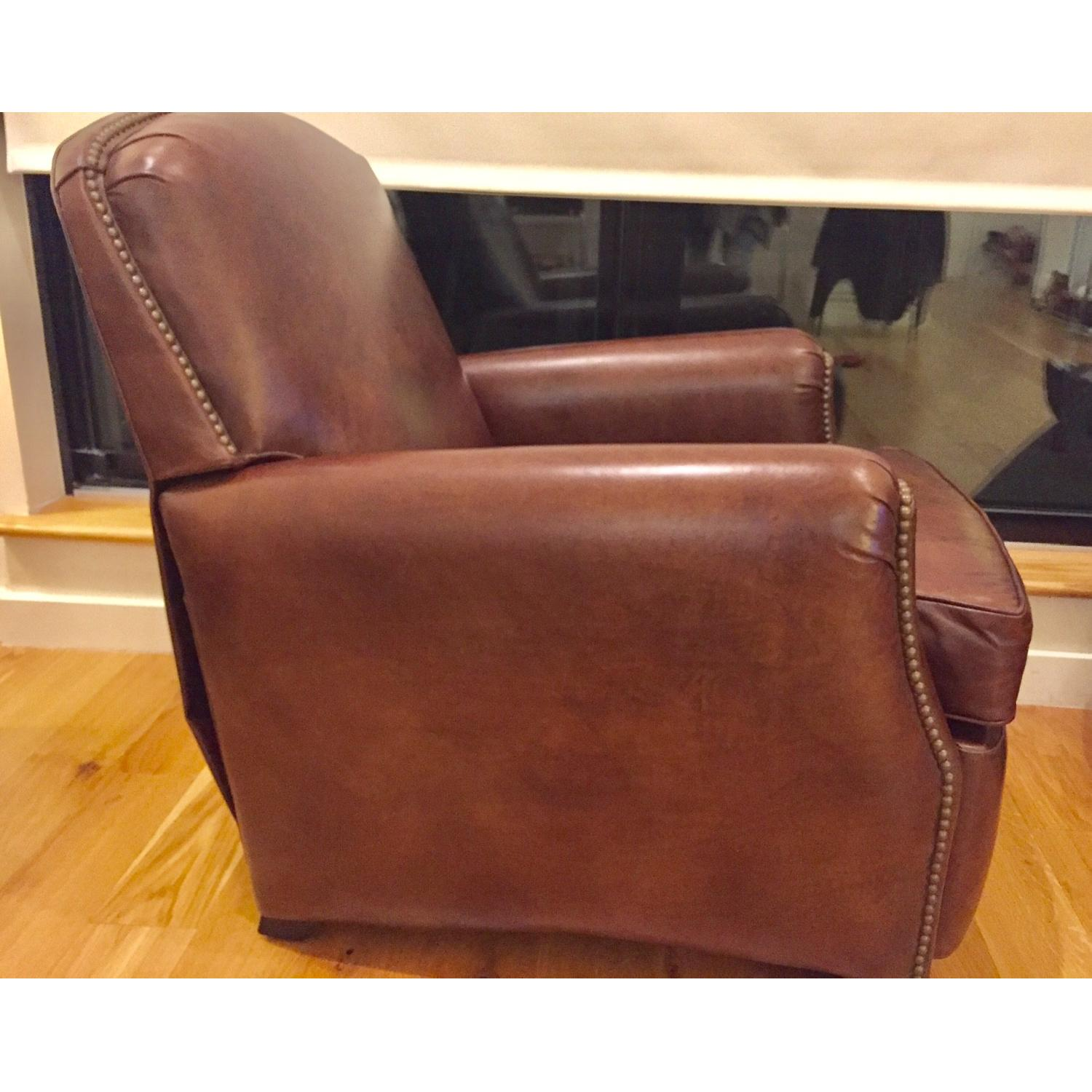 Restoration Hardware Keaton Leather Club Recliner - image-2