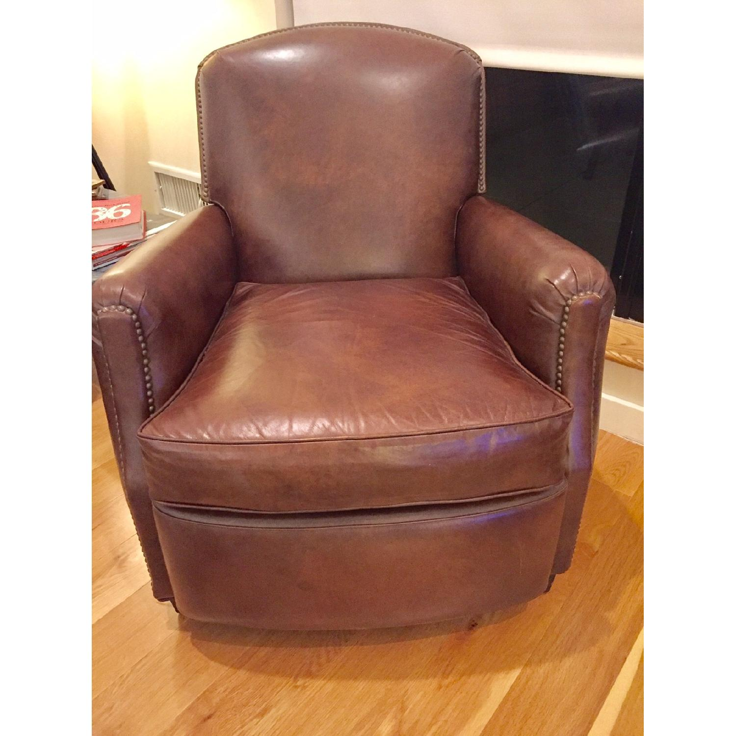 Restoration Hardware Keaton Leather Club Recliner - image-4