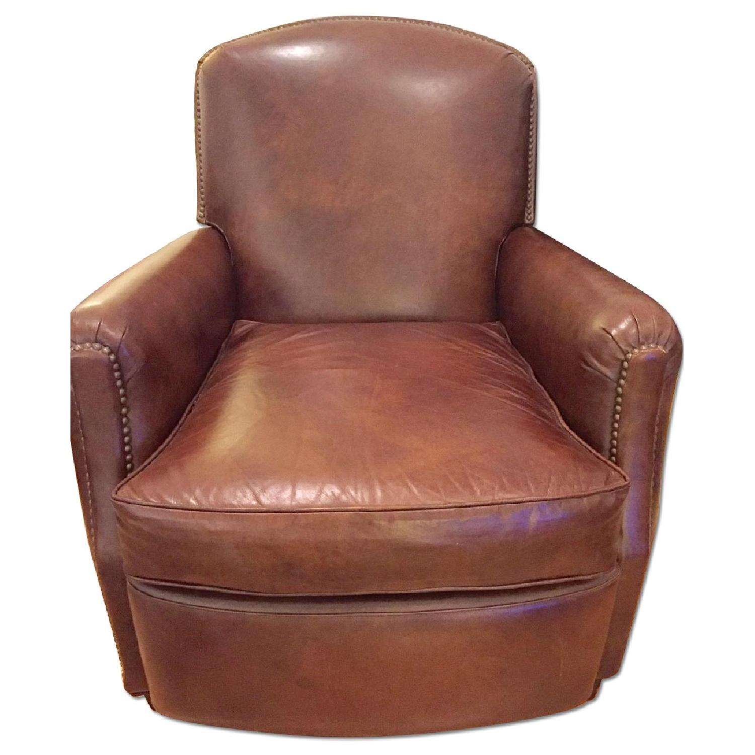 Restoration Hardware Leather : Restoration hardware keaton leather club recliner aptdeco