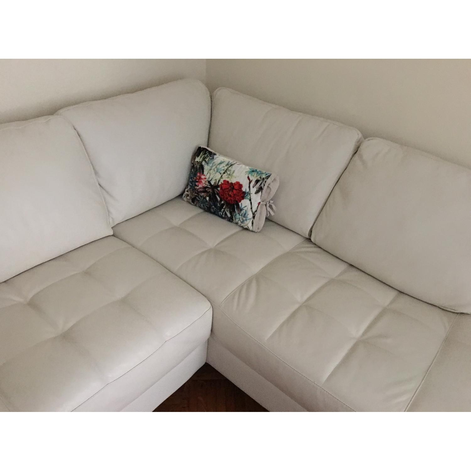 Macy's Italian Quilted Leather Sectional Sofa - image-5