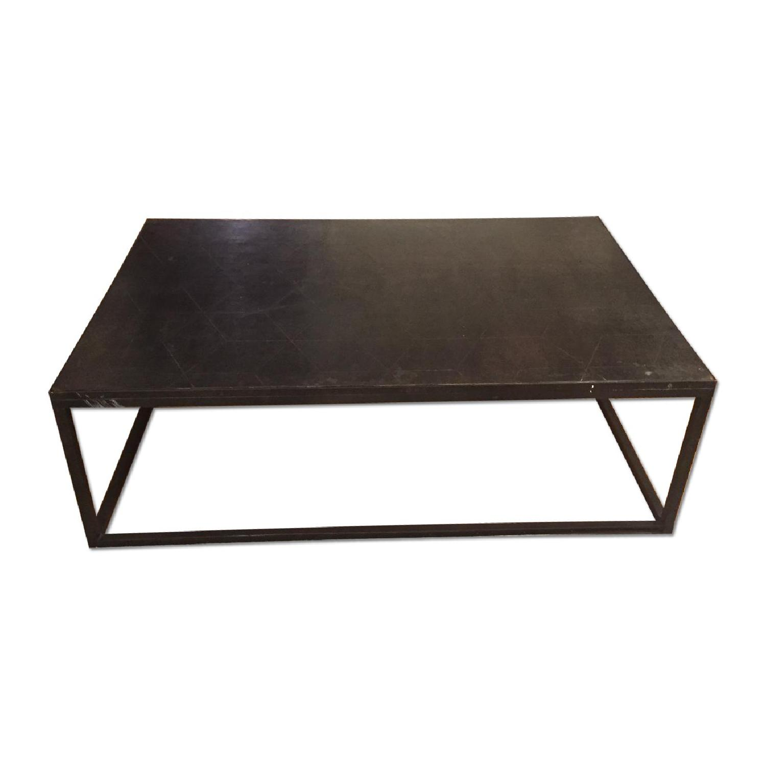 Restoration Hardware Metal Parquet Coffee Table Aptdeco