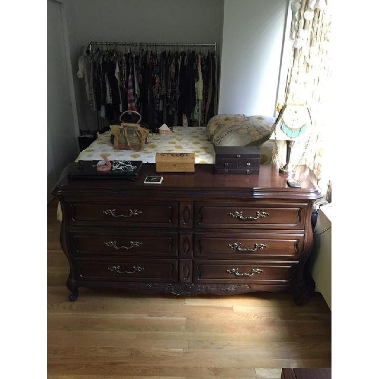 Vintage Mahogany Finish Oak Wood Dresser - image-1