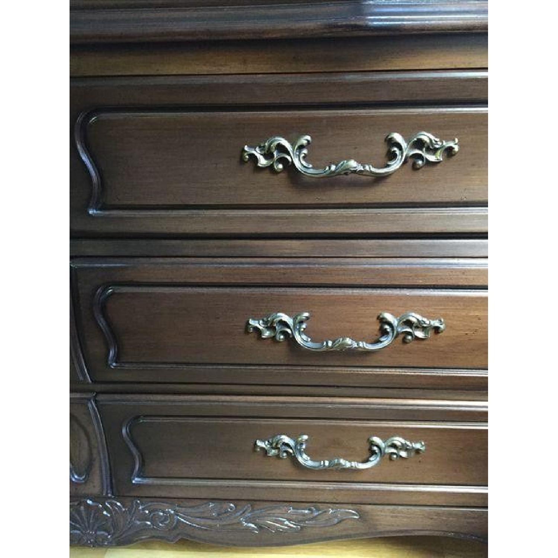 Vintage Mahogany Finish Oak Wood Dresser - image-2