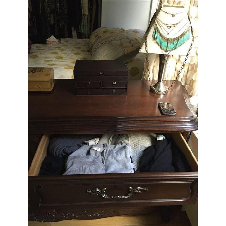 Vintage Mahogany Finish Oak Wood Dresser - image-3