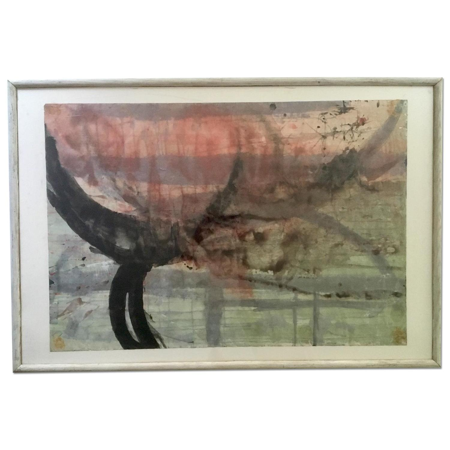 Vintage Abstract Painting 77 - image-0
