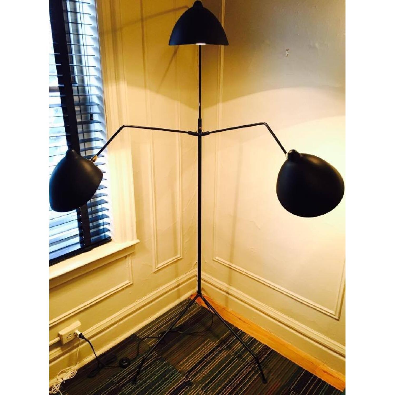 Serge Mouille Style MFL- 3 Three Arm Mantis Floor Lamp - image-1