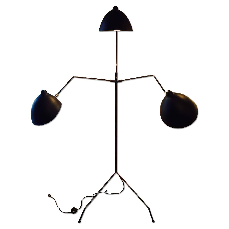 Serge Mouille Style MFL- 3 Three Arm Mantis Floor Lamp - image-0